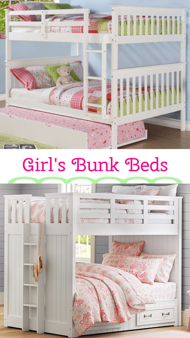 white bunk beds for girls bedroom - white bunk beds - country bunk beds - girls bedroom ideas
