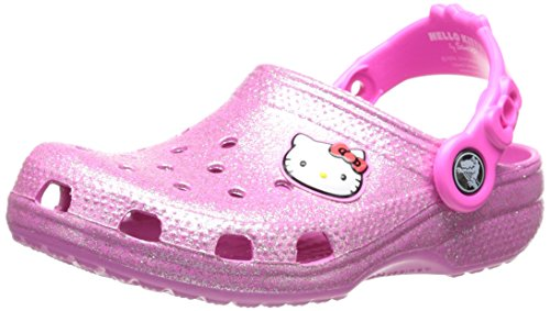 crocs 16159 Hello Kitty Glitter Clog (Toddler/Little Kid),Party Pink,10 M US Toddler