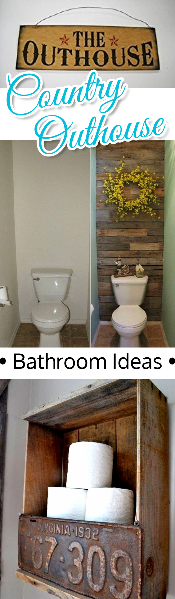 Country Outhouse Bathroom Decor Ideas - fun idea for a small bathroom