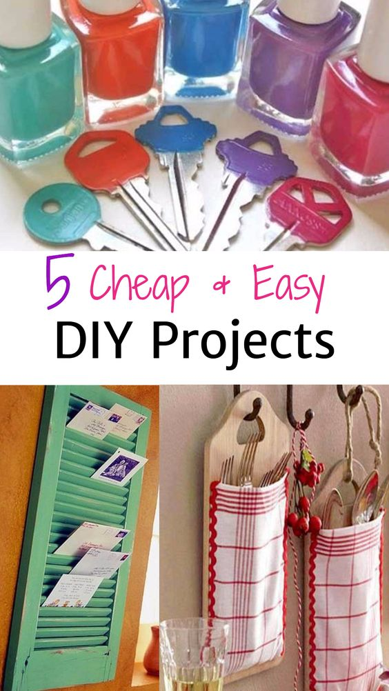 5 Cheap and Easy DIY Projects That Will Make You Look CRAFTY