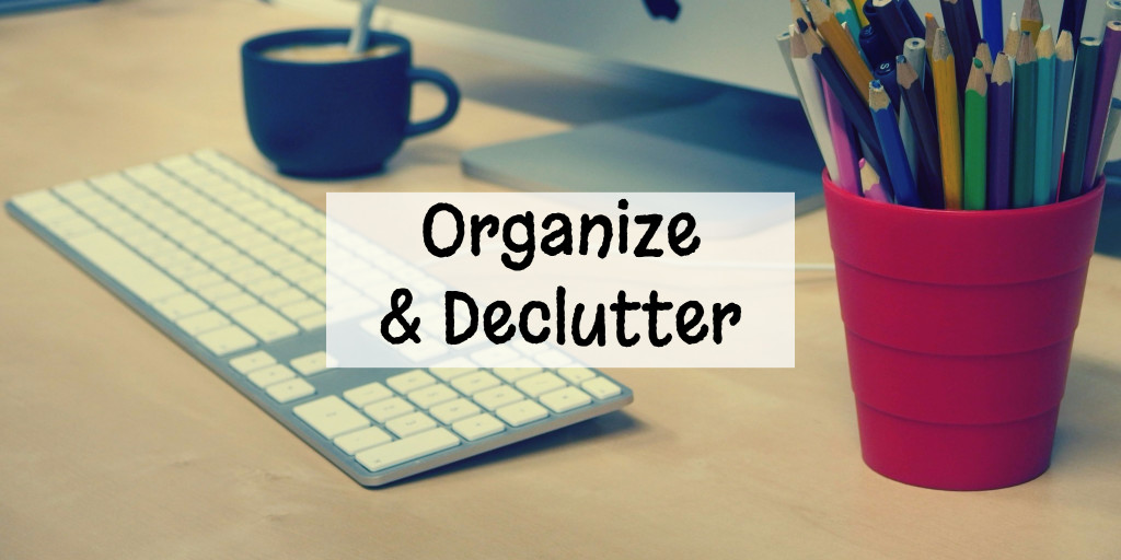 Organization tips from Involvery to delutter and organize your life.