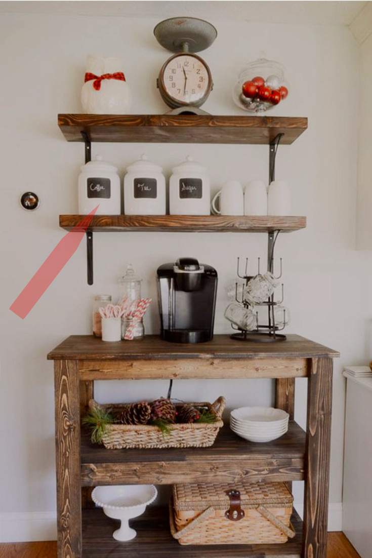 farmhouse canisters - farmhouse kitchen coffee bar - farmhouse kitchen canisters - farmhouse kitchen decor - farmhouse kitchen ideas - rustic farmhouse kitchen