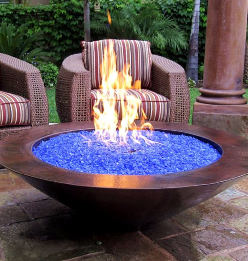 outdoor glass fire pit ideas