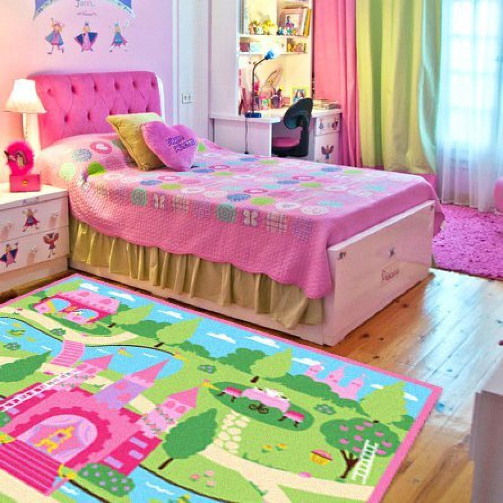 I love this little girl's bedroom idea!  Lots more super cute ideas on this page. #littlegirlsroom #bedroom #bedroomideas #bedroomdecor #diyhomedecor #homedecorideas #diyroomdecor #littlegirl #toddlergirlbedroomideas #toddler #diybedroomideas #pinkbedroomideas