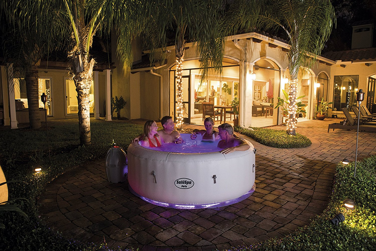 Inflatable Lazy Spa Hot Tub with lights - LED lights