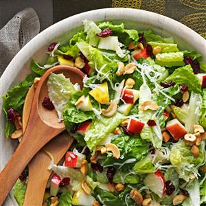 Easy summer tossed salad recipe - perfect for any crowd or any time of year!