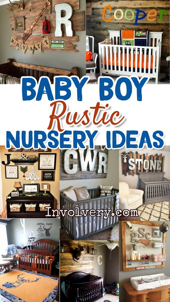 Nursery Ideas and Baby room ideas for baby boy - rustic nursery ideas - super cute and easy DIY nursery decorating ideas to copy. #nurseryideas #babyroomideas #babyboyroomideas #boynurseries #babyboyrooms #boynursery #babyboy #rustichomedecor #diyroomdecor #diyhomedecor #houseideas