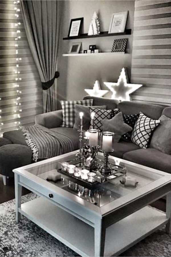 Gray living room ideas and grey living room inspiration ST1202019 - LOVE these gray and white living rooms and dark gray living room ideas - such beautiful living rooms! Pictures of gray living room with pops of color and neutral living room ideas (earthy gray colors, light gray, dark gray, paint colors, wall colors, decor, furniture, etc)