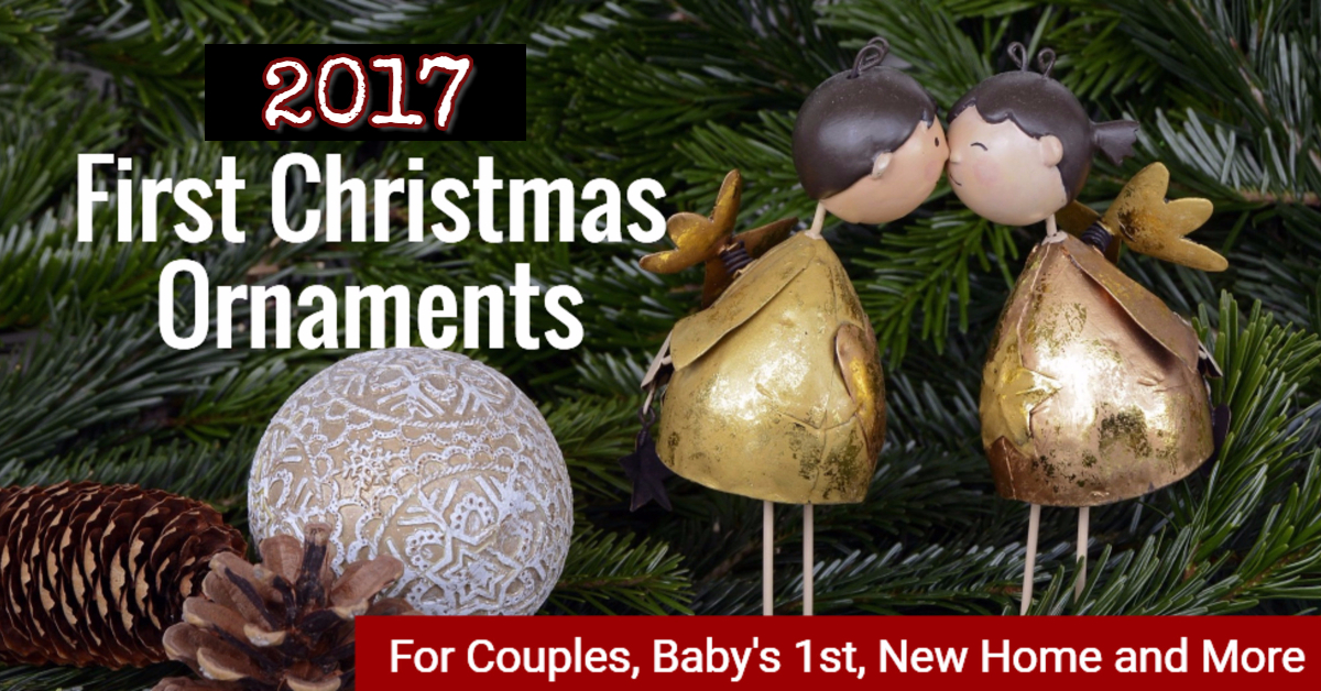 First Christmas ornaments for new home, newlyweds, first home, baby's first Christmas, twins first Christmas and more