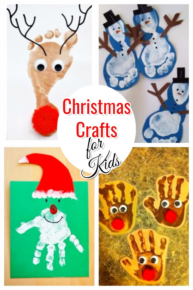 Christmas Crafts for Kids • Handprint (and footprint) art ideas for Christmas