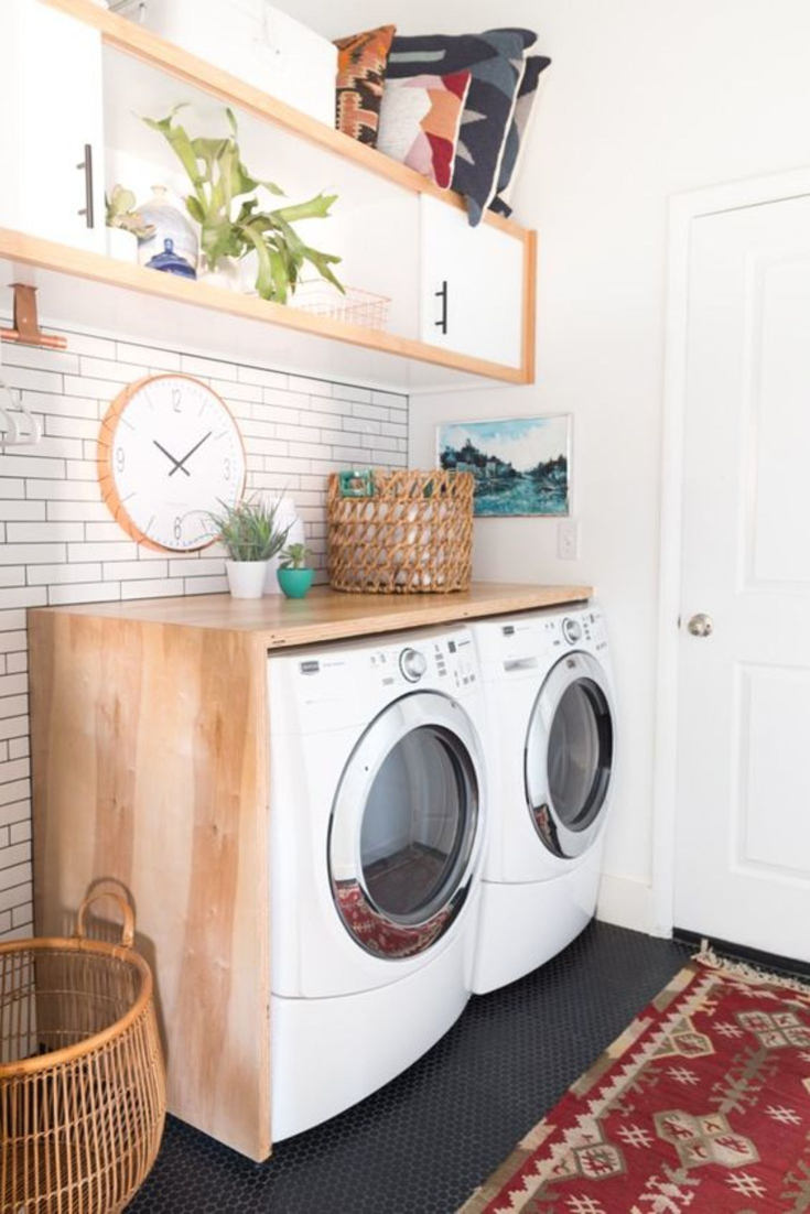 Garage Laundry Area DIY Ideas - Laundry Nook In Garage - Garage Laundry Nook Ideas - convert part of garage into laundry room nook #laundryroomideas #gettingorganized #laundryroomdesign #diyhomedecor