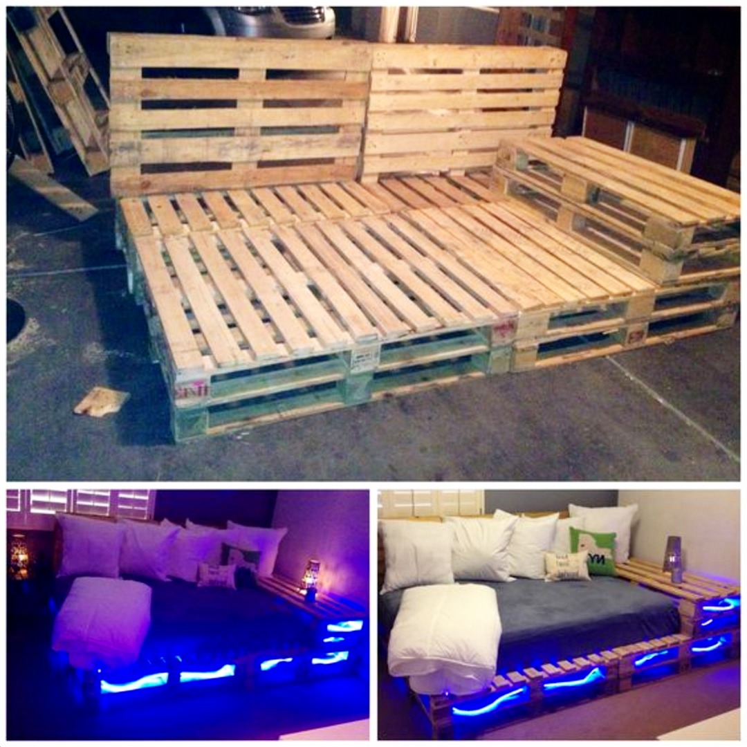 Pallet projects - easy DIY pallet furniture - love this pallet bed. Simply AMAZING DIY Pallet Projects and Pallet Furniture Ideas To Make or Sell