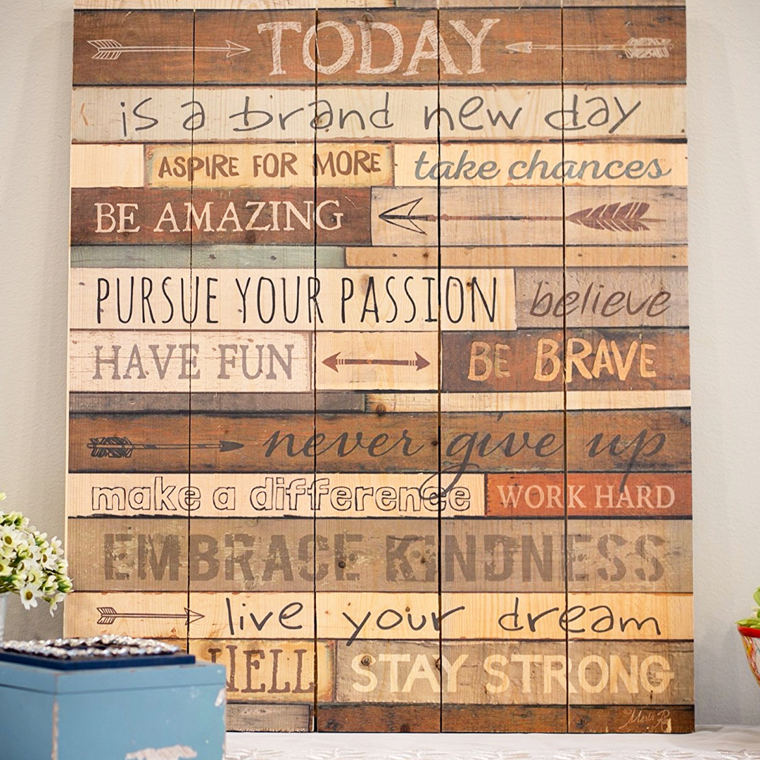 DIY wall decor for the home - pallet wall sign decoration ideas - love the saying painted on the pallet wood