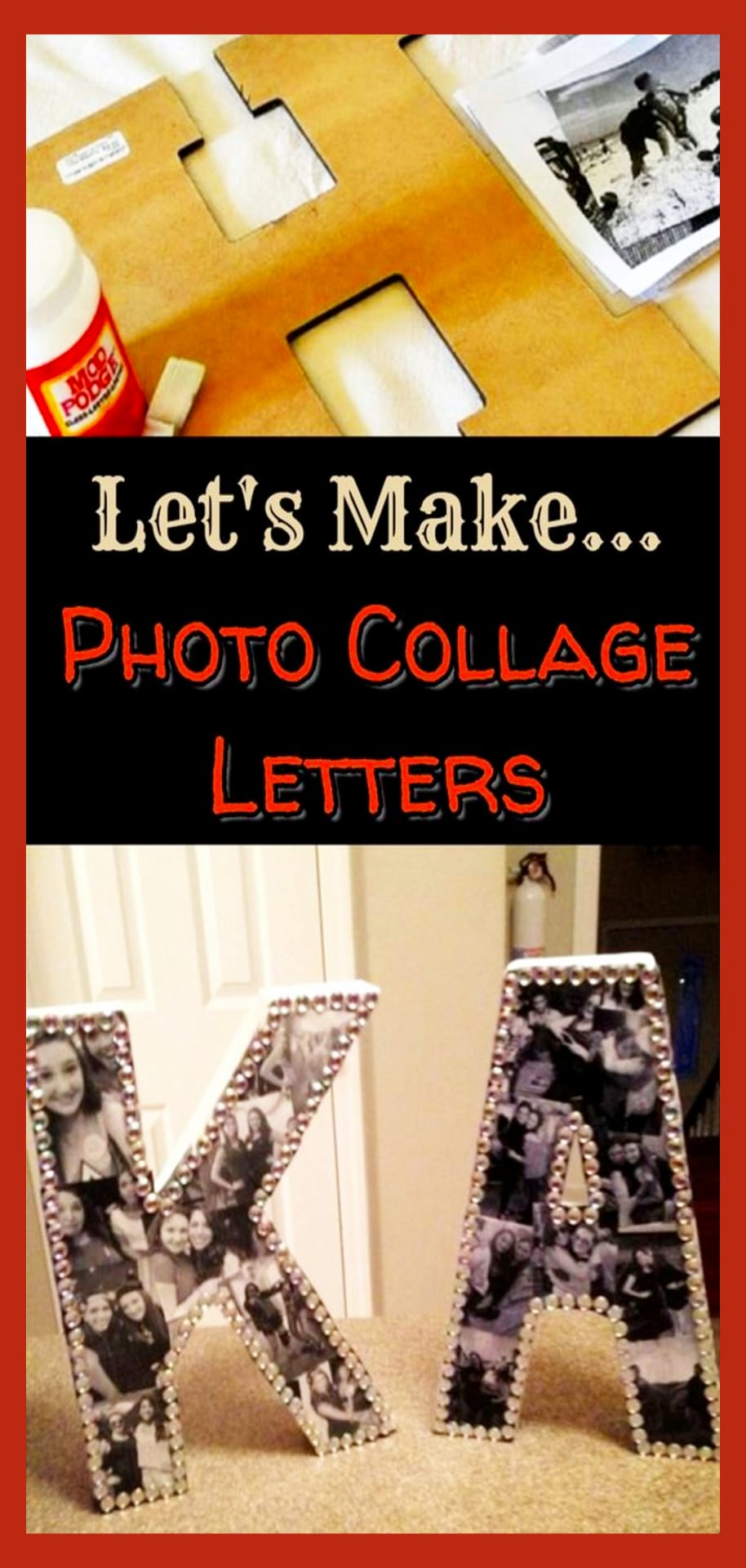 Picture collage ideas - easy DIY picture and photo collage craft projects to make as gifts or as wall decor for your room or dorm room