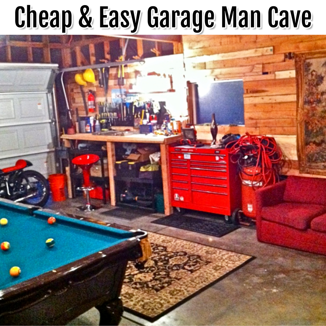 Man Cave Ideas - garage man cave ideas - half garage half man cave ideas on a budget - garage man cave photos and pictures for a budget man cave in your garage - affordable and inexpensive mancave ideas, decorating ideas, single car garage ideas, cheap man cave pics and garage man cave ideas pictures, DIY man cave bar, man cave accessories and cool stuff to put in a man cave (garage OR basement man caves) - awesome man cave ideas!