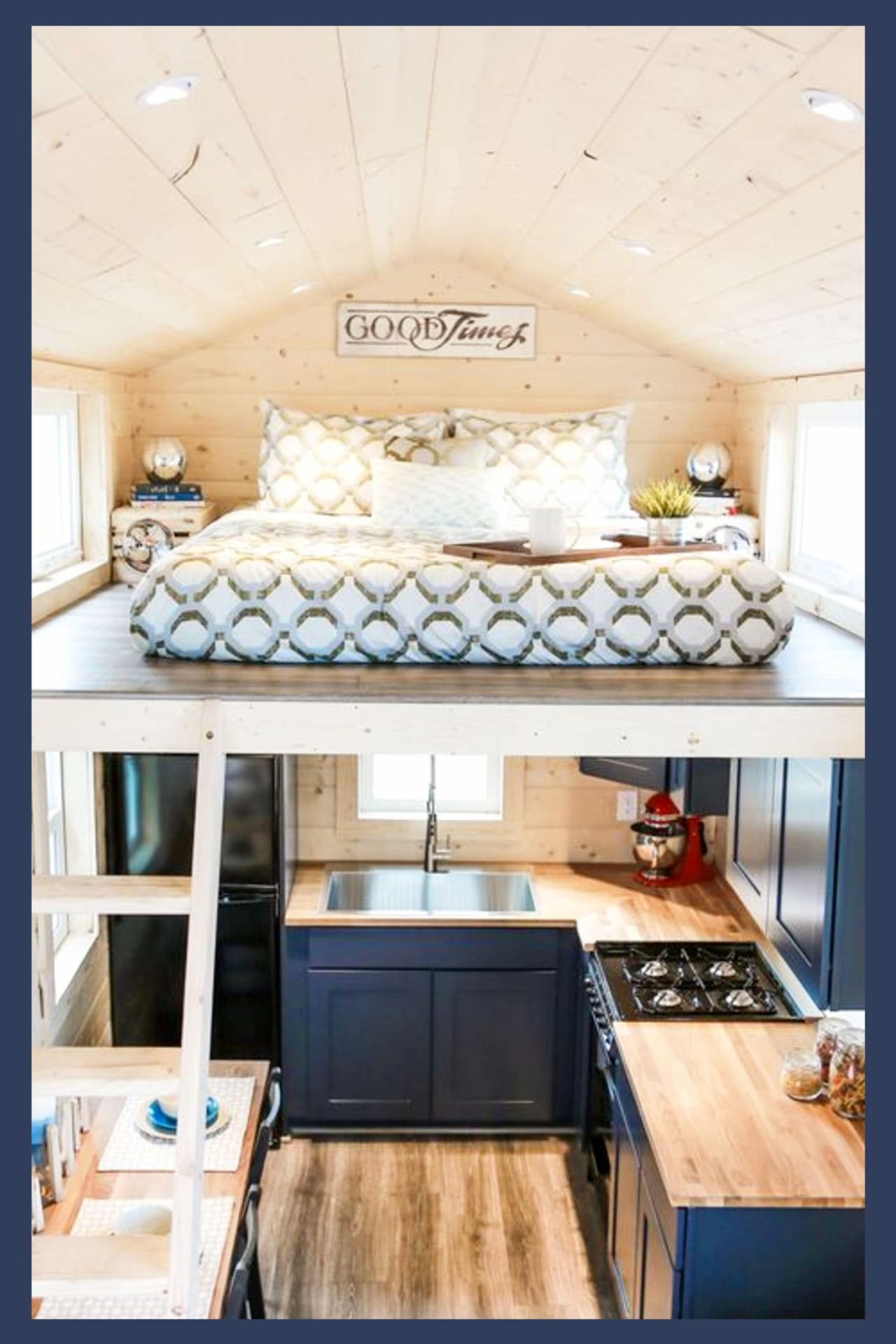 Tiny House Ideas! Love HGTV Tiny Homes? Take a look inside tiny houses with these tiny house interior photos and images (interior AND exterior) These tiny house designs and floor plans are perfect tiny house plans under 1000 sq ft - they're like a tiny apartment on wheels for tiny home communities! Tiny house bedroom ideas - loft ideas for tiny home