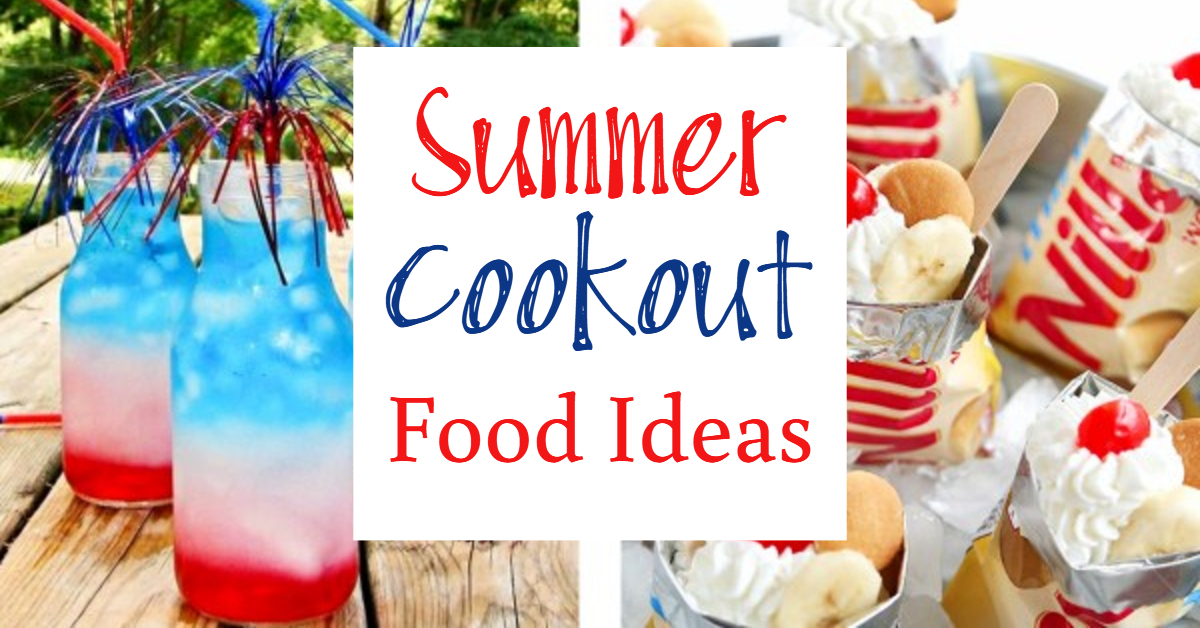 Food ideas for a Summer Cookout - Easy BBQ Party and 4th of July Party recipes and food ideas we LOVE.  Guranteed CROWD PLEASERS