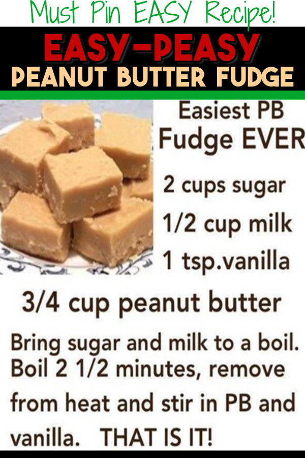 EASY Christmas dessert recipes (this easy Christmas fudge is one of our Top 10 Christmas desserts - perfect for a Christmas party or get together Holiday gathering... or as homemade gifts for your neighbors, friends, co-workers etc).  This EASY peanut butter fudge recipe is SO good and only takes minutes to make.  4 Ingredients in this creamy peanut butter fudge.  EASY Christmas fudge with a simple 4 ingredient recipe.