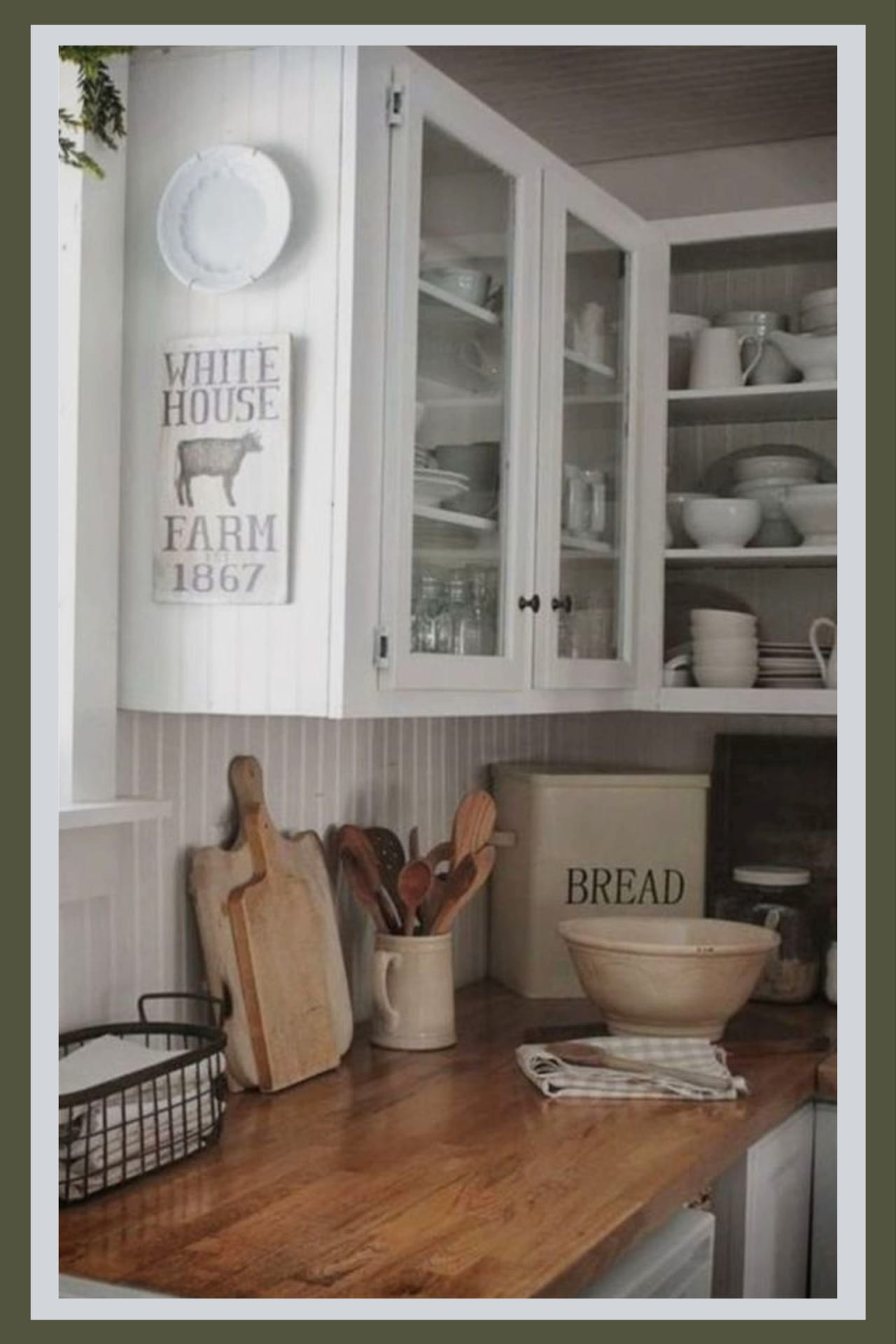 Farmhouse kitchen decorating ideas - country farmhouse kitchen canisters and decor idea - farmhouse canisters we love!