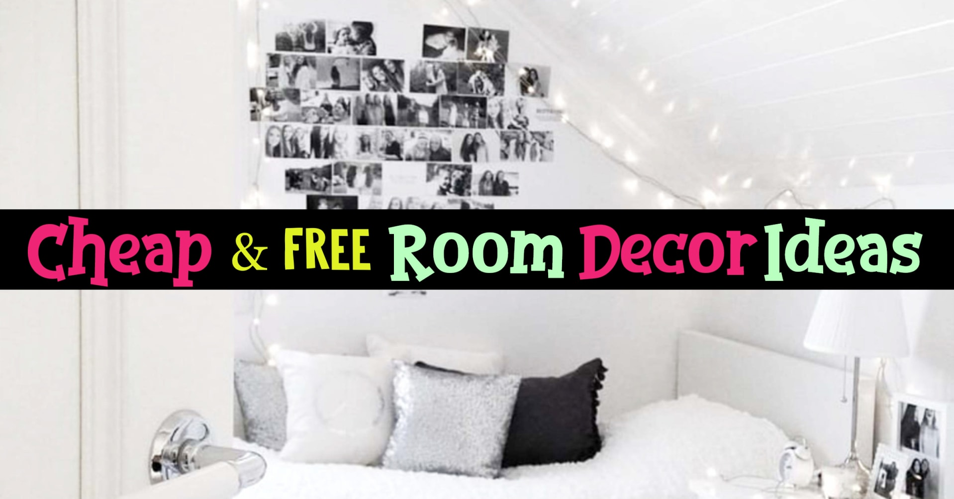 Cheap bedroom decorating ideas - how to decorate your room without spending money - cheap room decor ideas