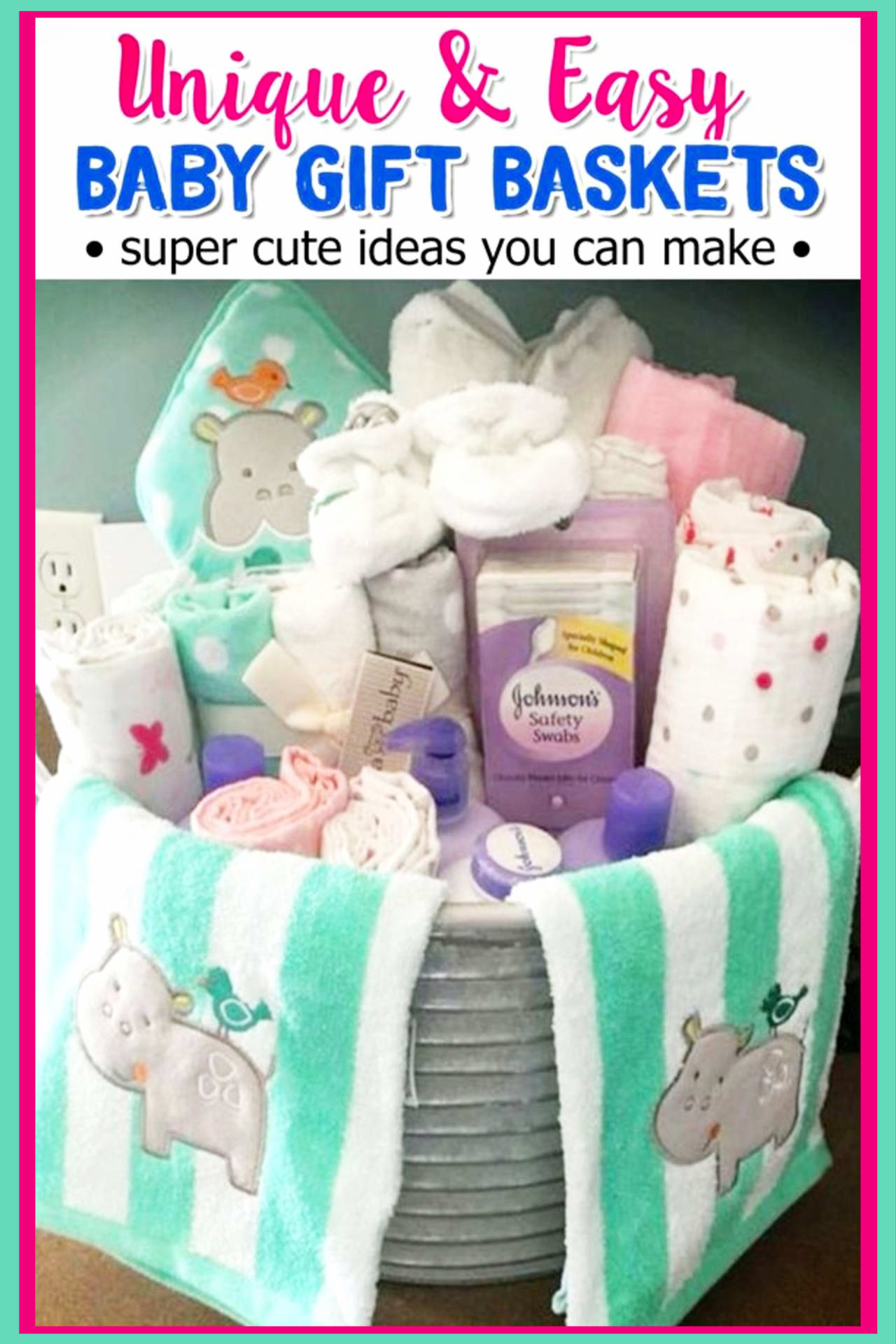 Baby shower gift ideas on a budget - cheap homemade baby shower gifts and easy DIY baby shower gift baskets to make for boys, for girls or for gender unknown (gender neutral) - cute, unique and creative baby shower gifts on a budget - baby shower gift baskets, baby shower bathtub gift baskets and more creative and inexpensive baby shower gifts to make