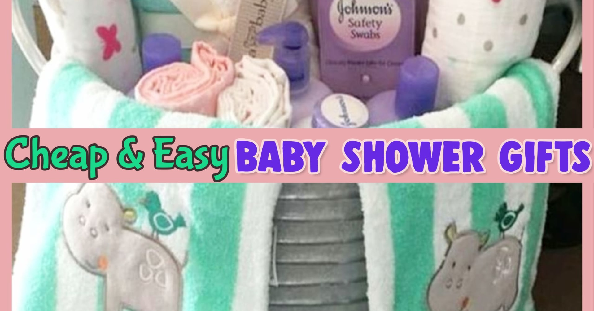 Baby Shower Gift ideas - cheap, easy and UNIQUE DIY baby shower gift ideas for girls, for boys AND for unknown gender