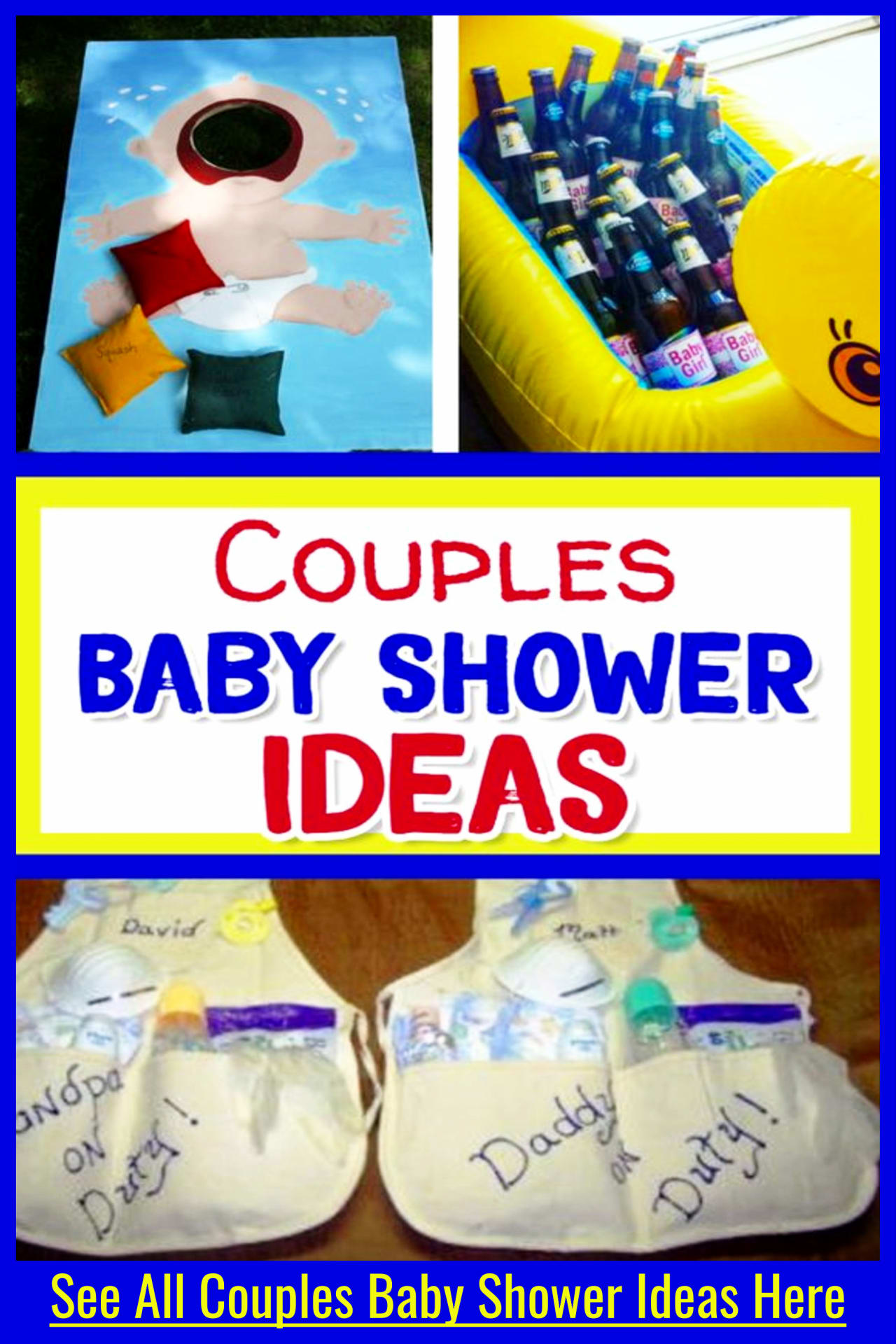 Couples baby shower ideas - baby shower gifts on a budget and cheap coed couples baby shower decorations, games, food ideas and more