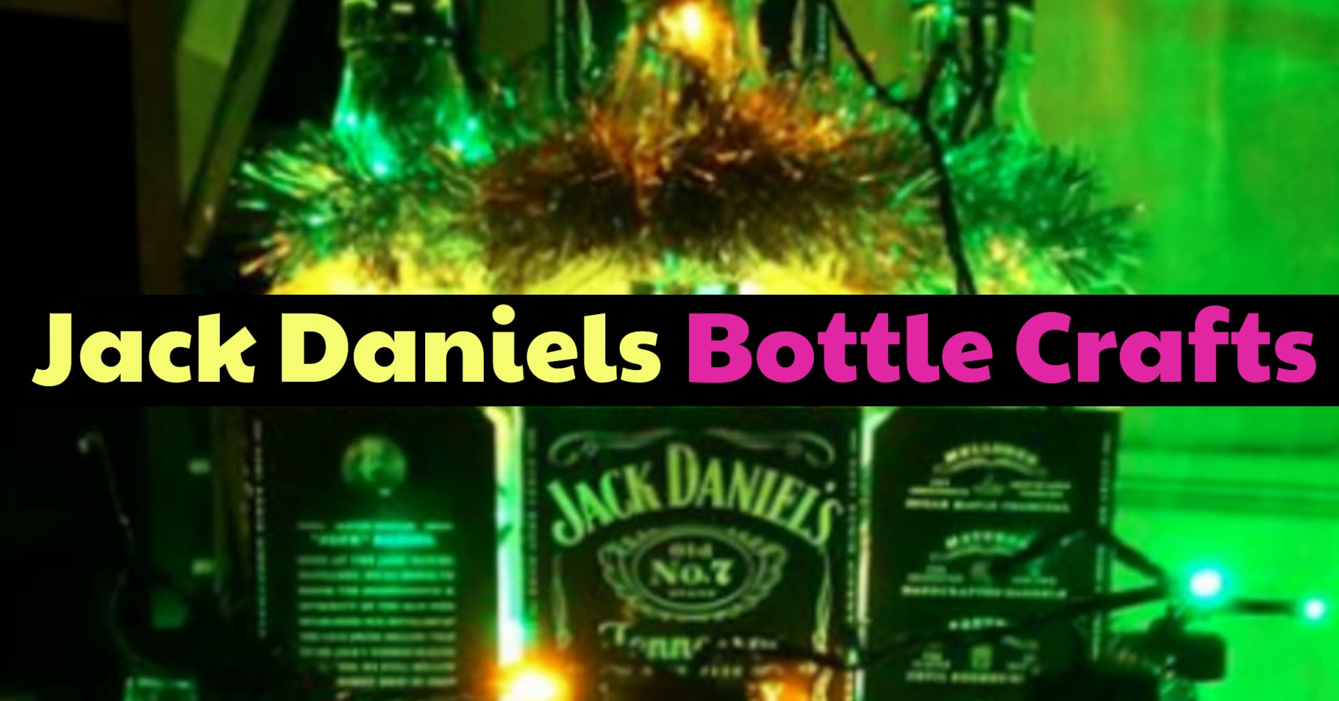 Empty Bottle Crafts - Jack Daniels Bottle Crafts - Easy DIY that you can do at home - easy DIY that looks hard but is EASY.