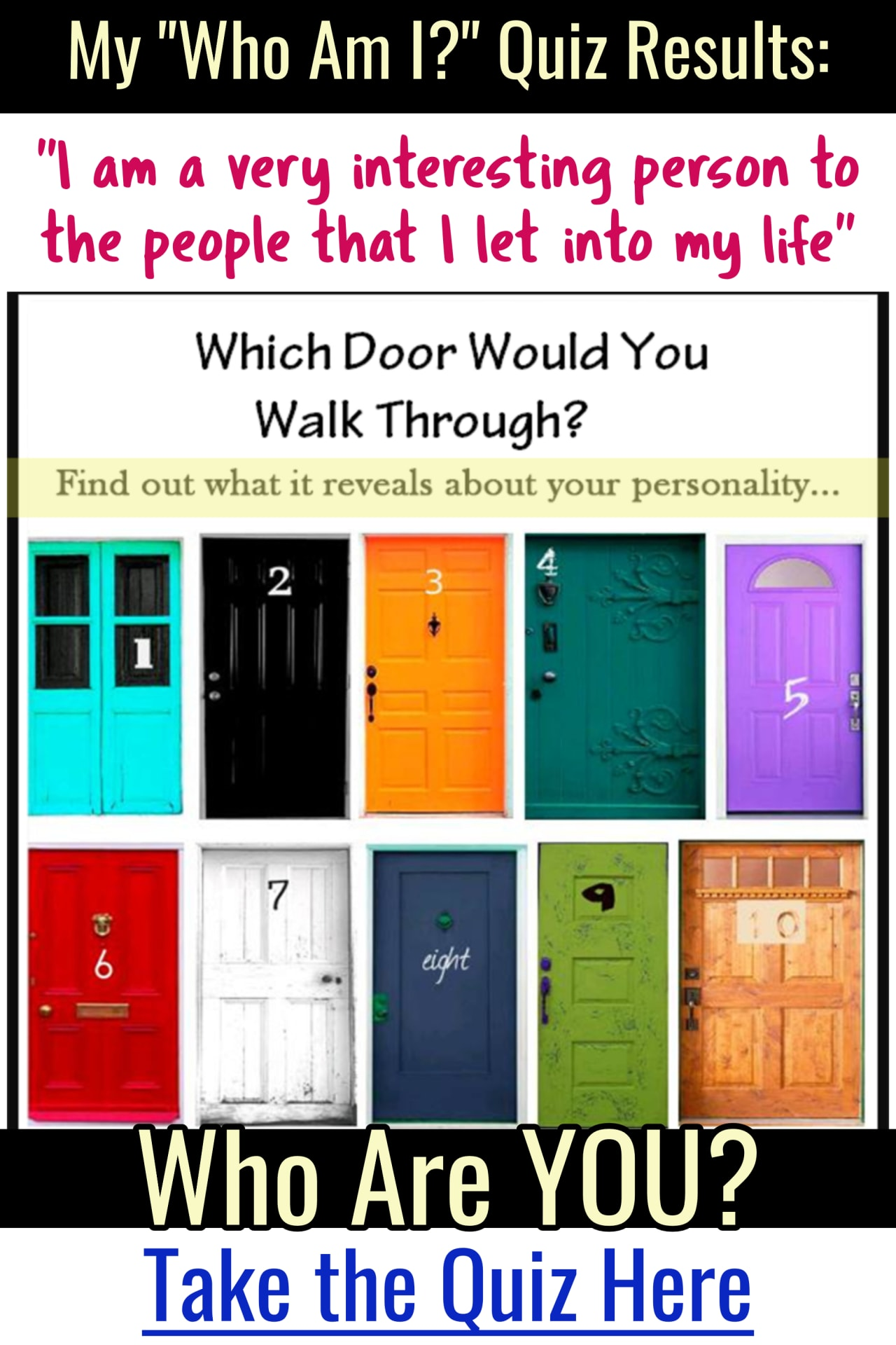 Fun Who Am I quiz to take - LOVE these fun personality tests!  This is who I am - who are YOU?  Take the online quiz now - take the personality quiz with friends!