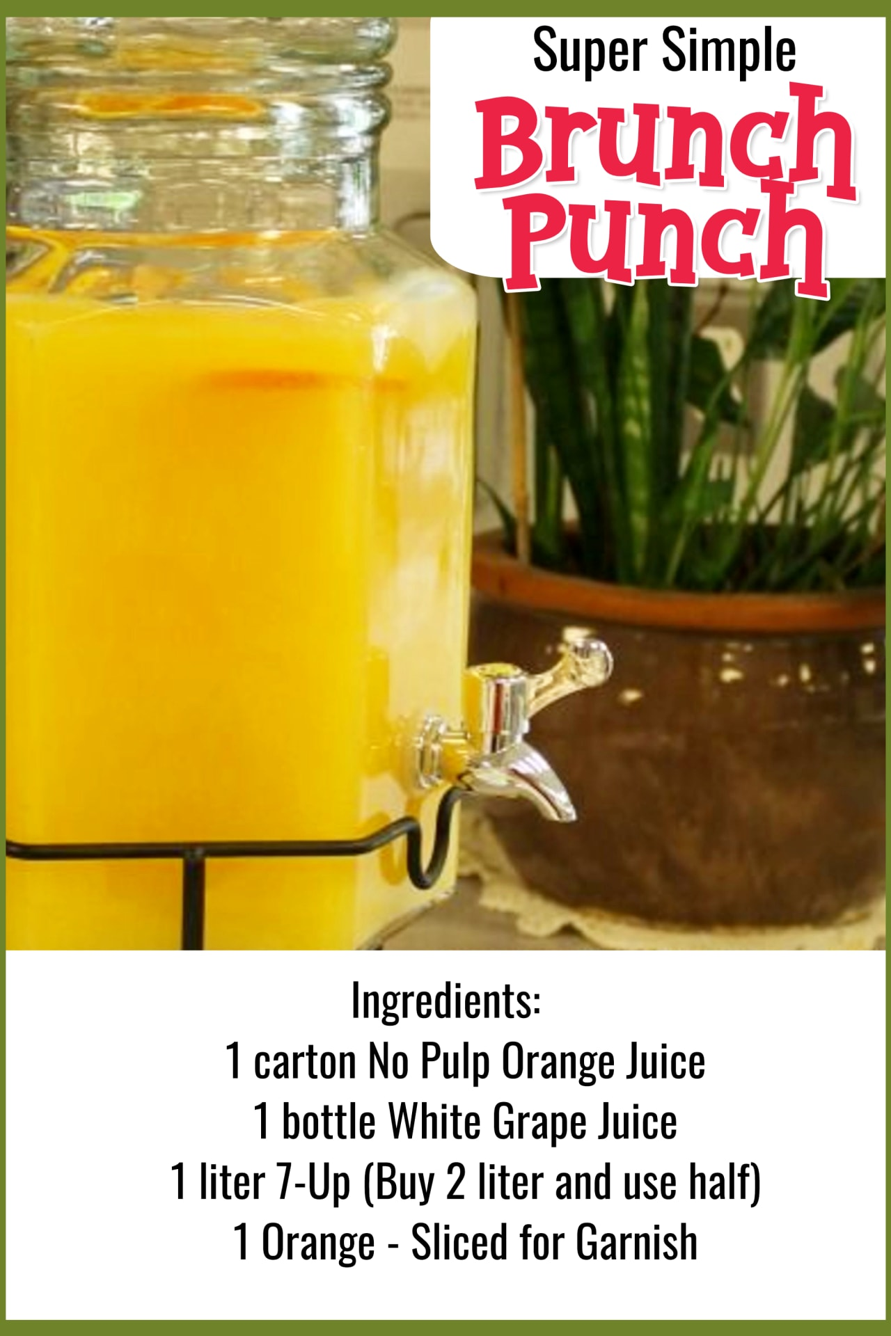 Easy Brunch Punch Recipe for a crowd - Easy Punch Recipes for a Crowd and Easy Party Drinks Ideas - Cranberry Vodka Punch, Pineapple Orange Juice Alcoholic Drinks, Punch for 50 and Simple Punch Recipes for a Crowd, Party, Brunch, Cookout or Bridal Shower - non-alcoholic punch recipes and simple alcoholic punch recipes, non-alcoholic holiday punch, easy fruit punch recipes, easy punch recipes with sprite and pineapple juice, jungle juice recipe with fruit
