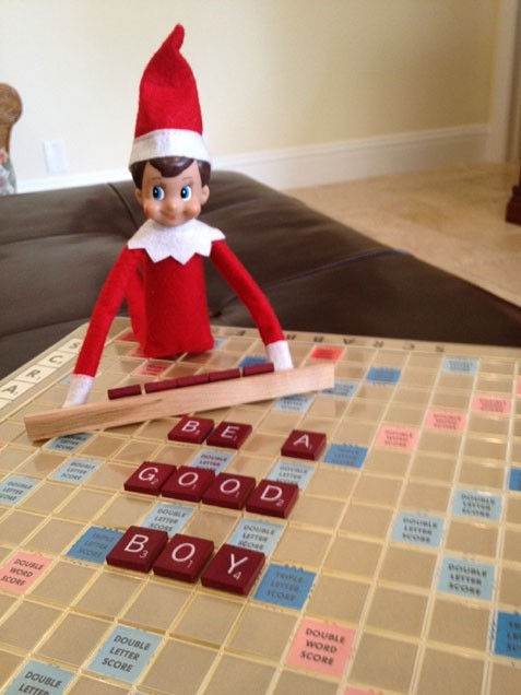 Clever idea for the Elf on the Shelf tonight!