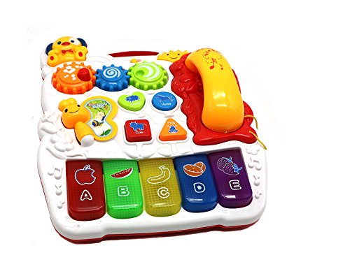 Ver-Baby Childrens Kids Musical Activity Center Table with Telephone Piano Great Educational play for Toddlers & Babies