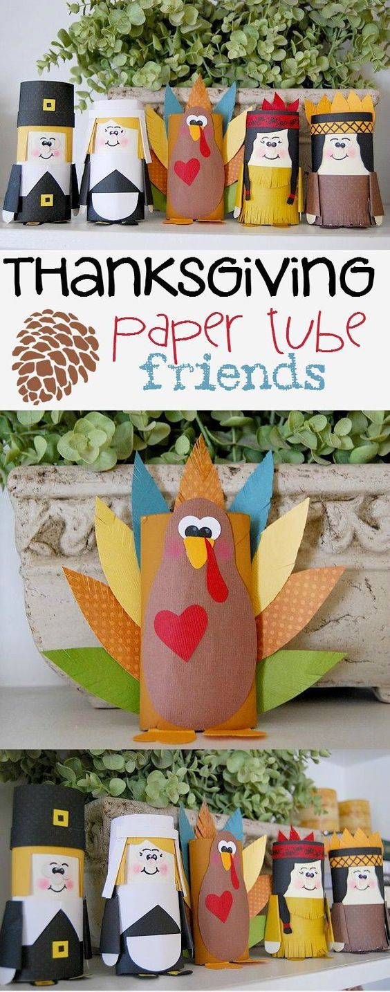 Fall Crafts For Kids of All Ages - Fun and Easy Fall Crafts and Craft Projects for Kids to Make - Make Fun and Easy autumn craft projects using Paper Towel tubes, or Toilet Paper tubes