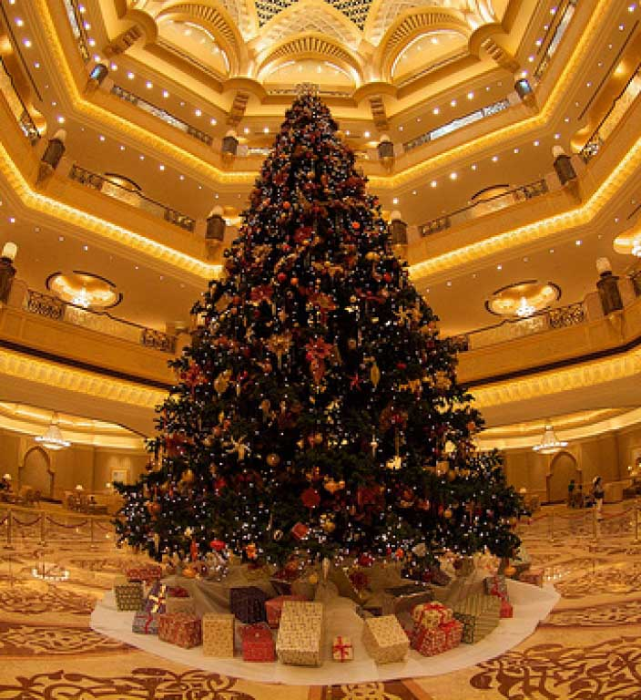 the most expensive fake Christmas tree EVER!