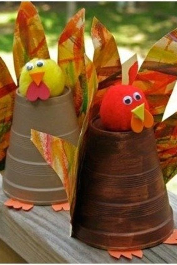 Fall crafts for kids easy fall kid crafts for for Pre k turkey crafts