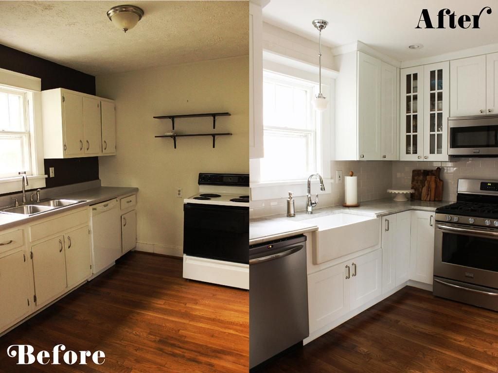 Small Kitchen Diy Ideas Before Amp After Remodel Pictures