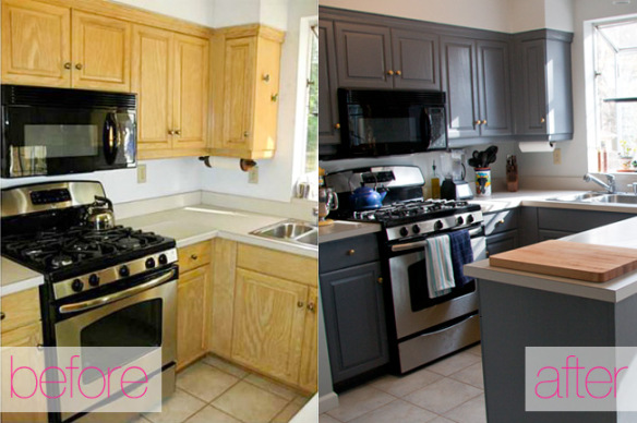 Small kitchen diy ideas before after remodel pictures for Small kitchen updates on a budget