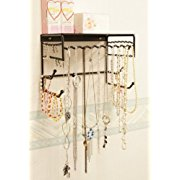 Wall-mounted Jewelry & Accessory Storage Rack Organizer Shelf for Hanging Earrings Bracelets Necklaces & Hair Accessories