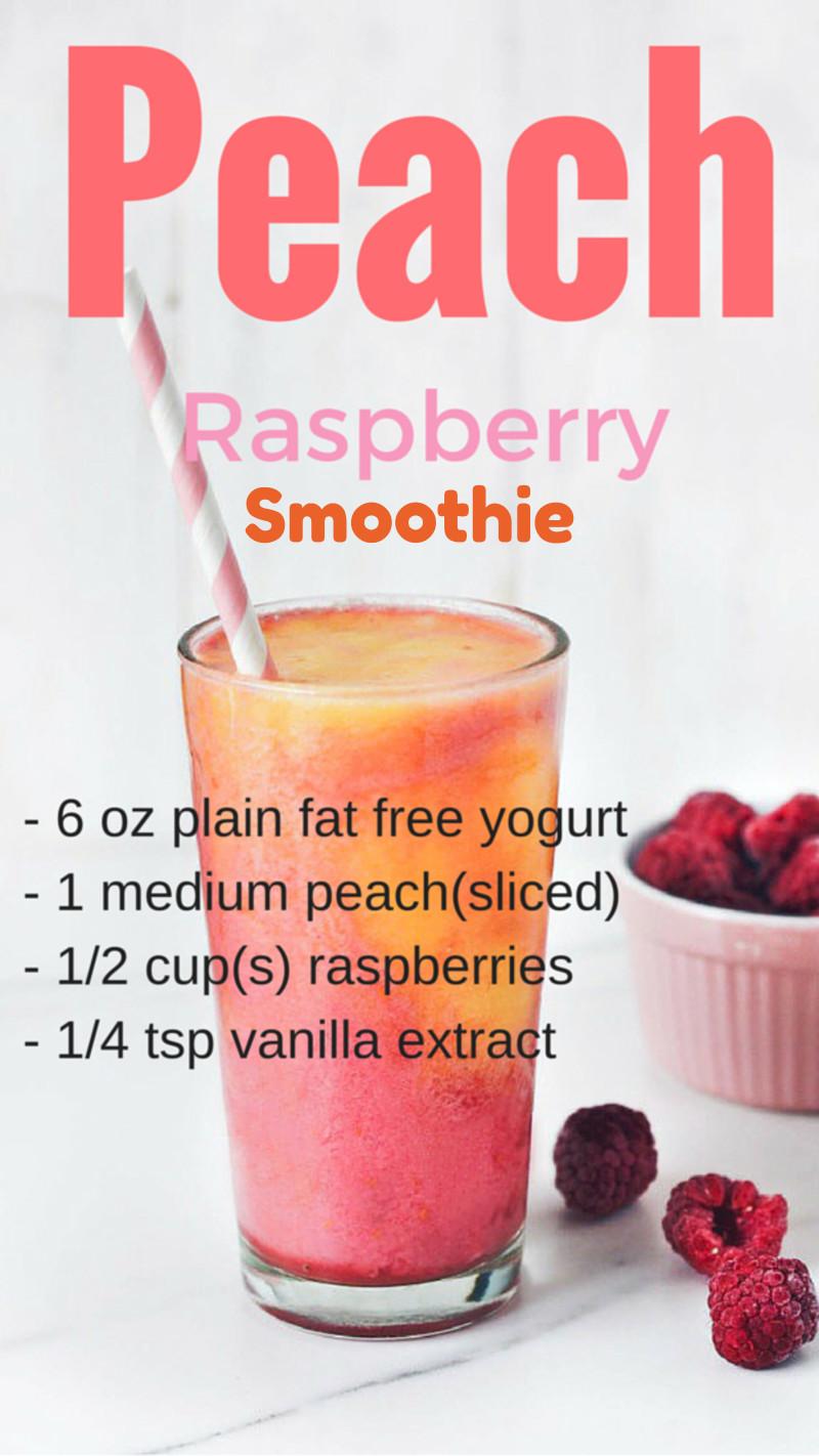 Peach smoothie recipes - peach raspberry smoothies recipe