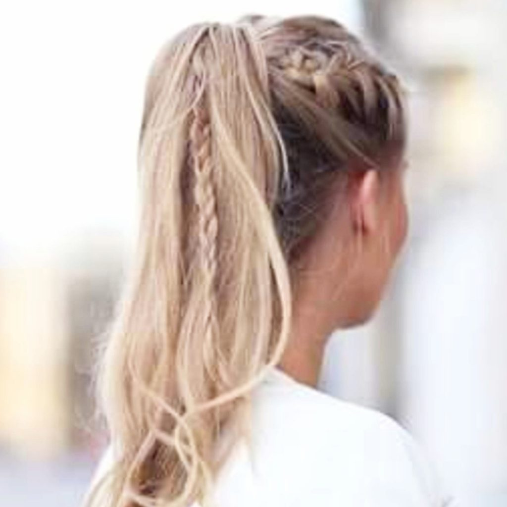 Ponytail hairstyles with braids