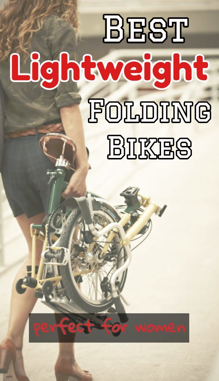 Ladies, ya GOTTA get a Folding Bike - they're awesome! This page lists all the best LIGHTWEIGHT folding bikes that are ideal for women because they are easy to fold (and unfold), light so they're easy to carry and put in and out of trunk, and their affordable. Just imagine having a bike IN YOUR TRUNK everywhere you go! It's awesome (and my FitBit loves me for it!
