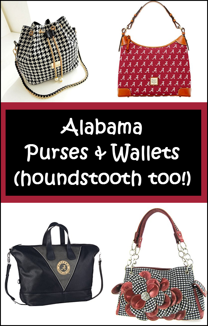 Alabama Houndstooth Purses & Wallets – BAMA Shoulderbags