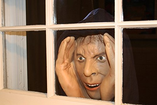 Halloween Decoration -Scary Peeper - Peeping Tom-The True-to-Life Window Prop that will scare your socks off