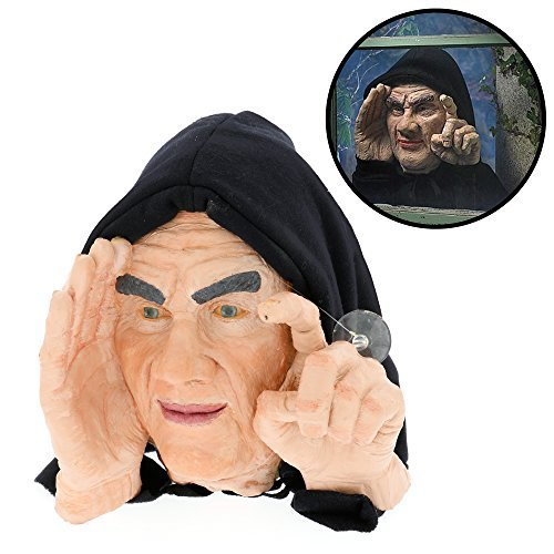 Halloween Decoration - Scary Peeper - Tapping Peeper - The True-to-Life Motion Activated Window Prop that really taps on your window