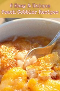 6 Easy and UNIQUE Peach Cobbler Recipes - I Must Try Them ALL!
