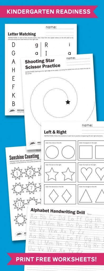 math worksheet : kindergarten readiness free printables checklists and more  : Getting Ready For Kindergarten Worksheets