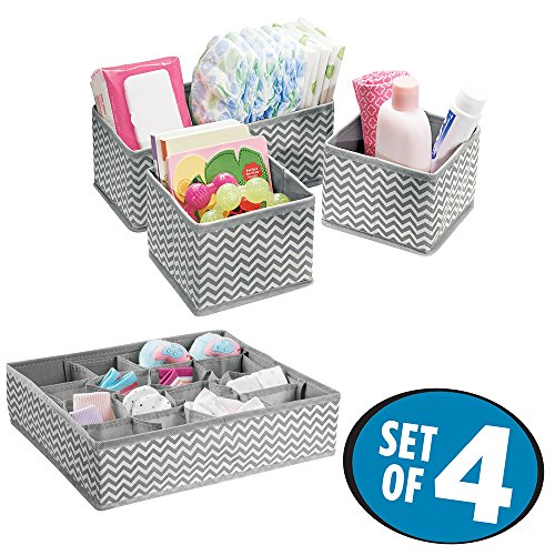 Chevron Fabric Baby Closet Organizers for Diapers