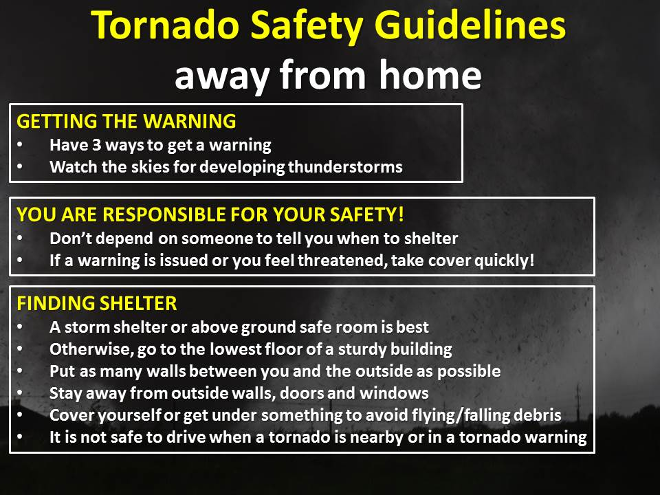 Tornado safety tips - very important!