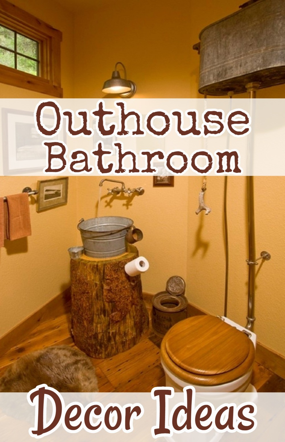 Country Outhouse Bathroom Decor/Redecorating Ideas