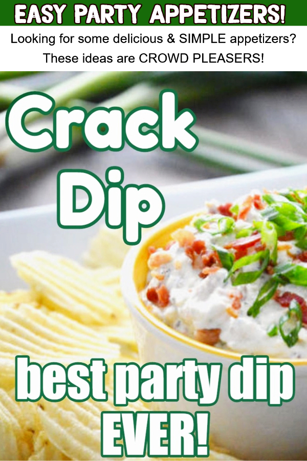 Easy chip dip recipe - crack dip